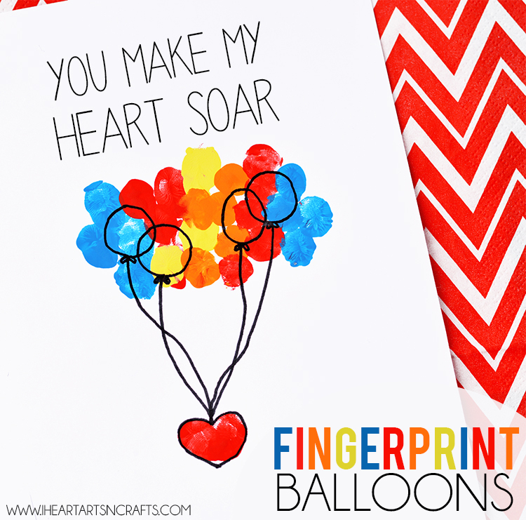 """You Make My Heart Soar"" Fingerprint Card"