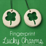 Fingerprint Lucky Charm Keepsake Kids Craft