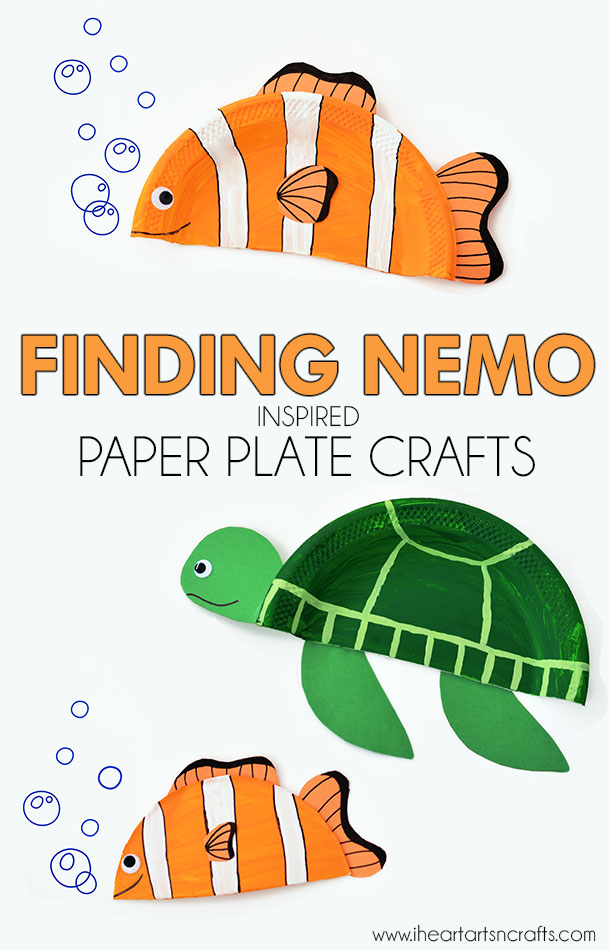 Finding Nemo Inspired Paper Plate Crafts  sc 1 st  I Heart Arts n Crafts : paper plate turtle - pezcame.com
