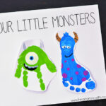 Monsters Inc Inspired Footprint Art