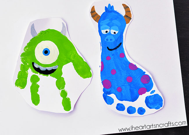 Monster Footprint Art - Monsters Inc Inspired
