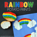 Rainbow Potato Printing Craft