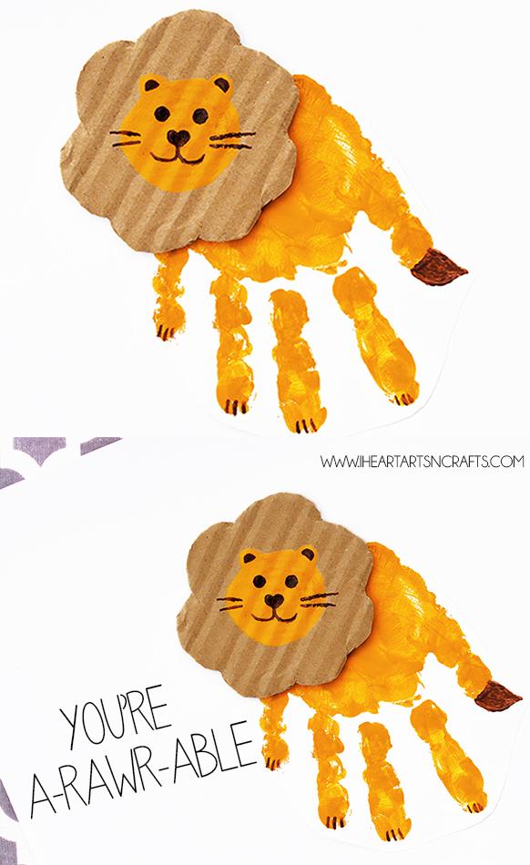 """You're A-rawr-able"" Handprint Lion Card"
