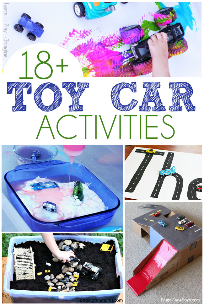 18 toy car activities