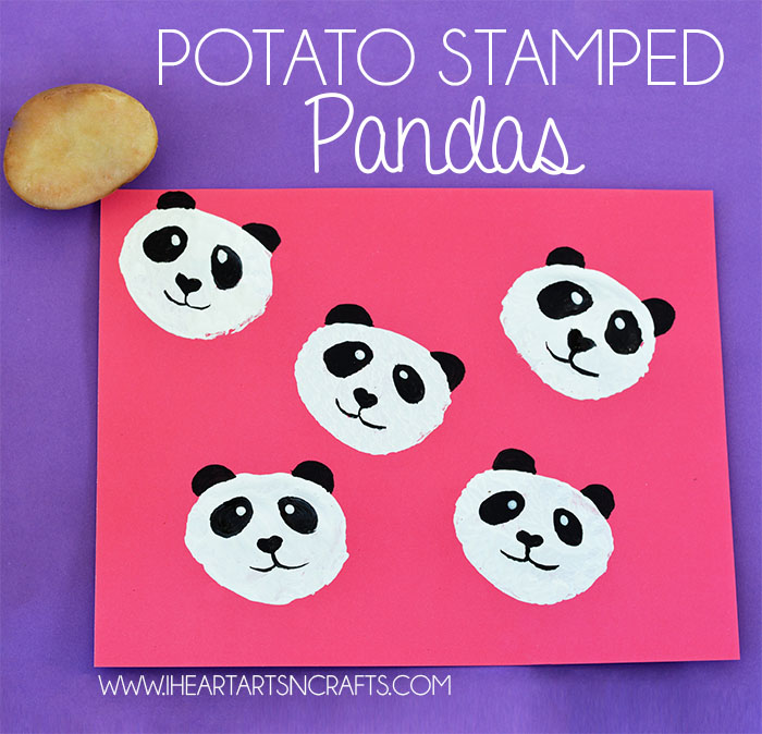 Potato Stamped Pandas
