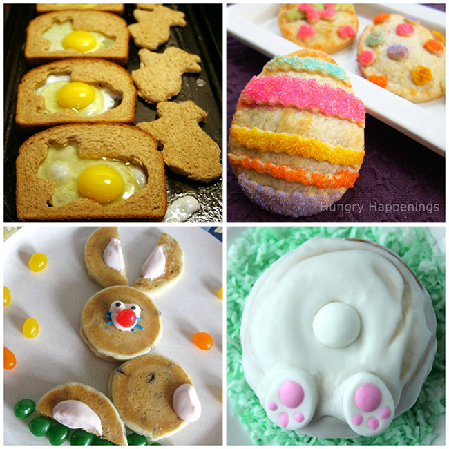 15 Easter Breakfast Recipes - Bunny Butt Pancakes, Easter Bunny Scrambled Eggs, Easter Pop Tarts and more!