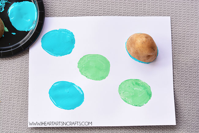 Monsters, Inc. Inspired Potato Stamping
