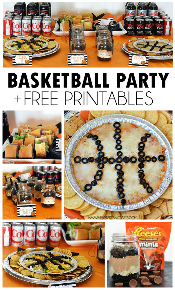 photo about Free Printable Food Labels for Party called Basketball Themed Occasion + Totally free Printables - I Center Arts n