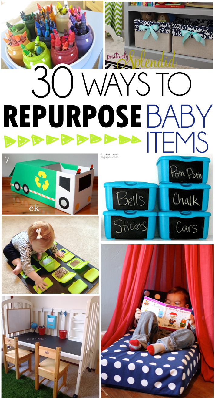 Picture of: 30 Ways To Repurpose Baby Items I Heart Arts N Crafts