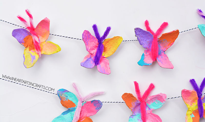 Egg Carton Butterfly Garland I Heart Arts N Crafts