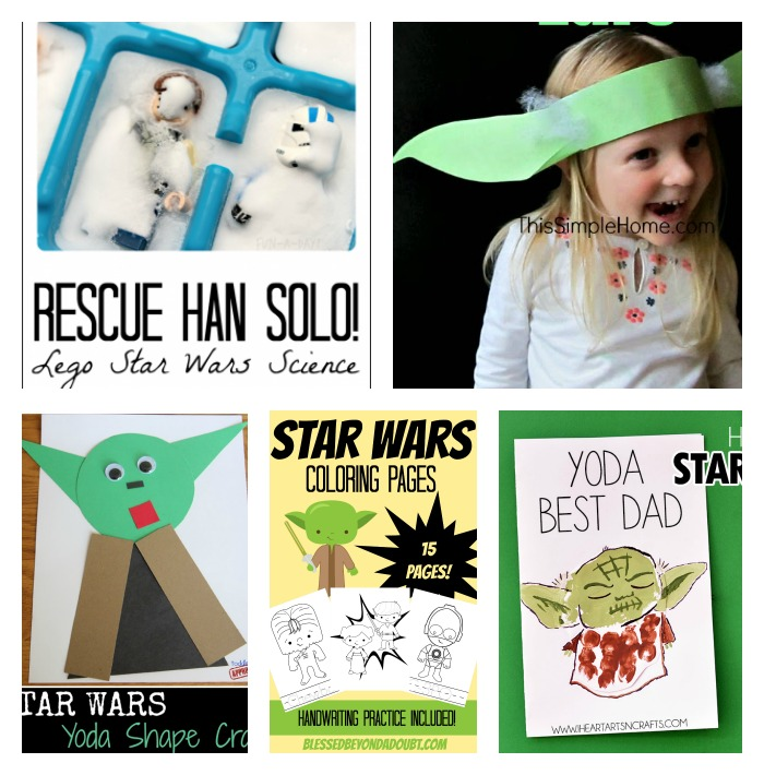 photograph relating to Star Wars Printable Crafts titled May possibly The Fourth Be With Your self - Star Wars Functions For Youngsters