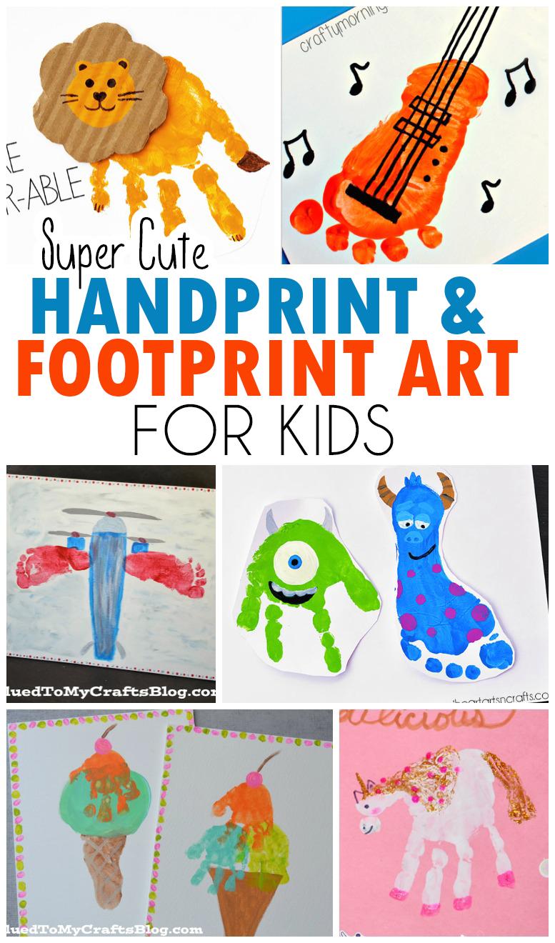 Handprint & Footprint Art for Kids - Roundup
