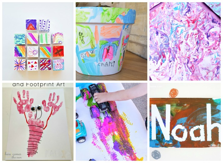 25 easy art projects for toddlers i heart arts n crafts Fun painting ideas for toddlers