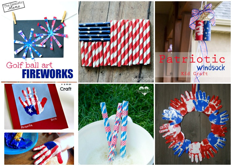 16 Fun And Easy Fourth Of July Crafts For Kids. 7. Golf Ball Art ...