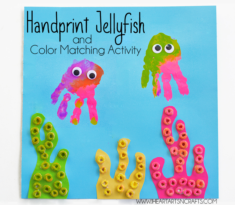 Handprint Jellyfish and Color Matching Activity