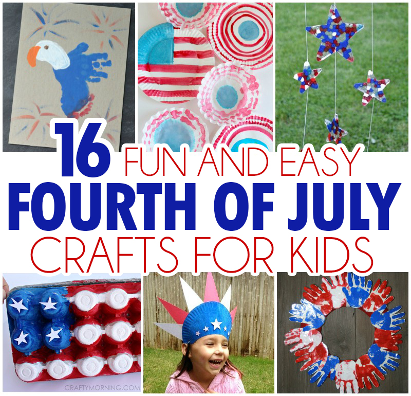 Crafts by Amanda. 8. Become the statue of liberty! Buggy and Buddy. 9. You can make a pretty awesome looking toilet paper roll bunting! Itsy Bitsy Fun. 4th of July Crafts for Preschool and Toddlers. I'd go 50/50 with this one – half craft, half experiment but this only makes it even more awesome doesn't it? Make patriotic flowers! Artful Parent.