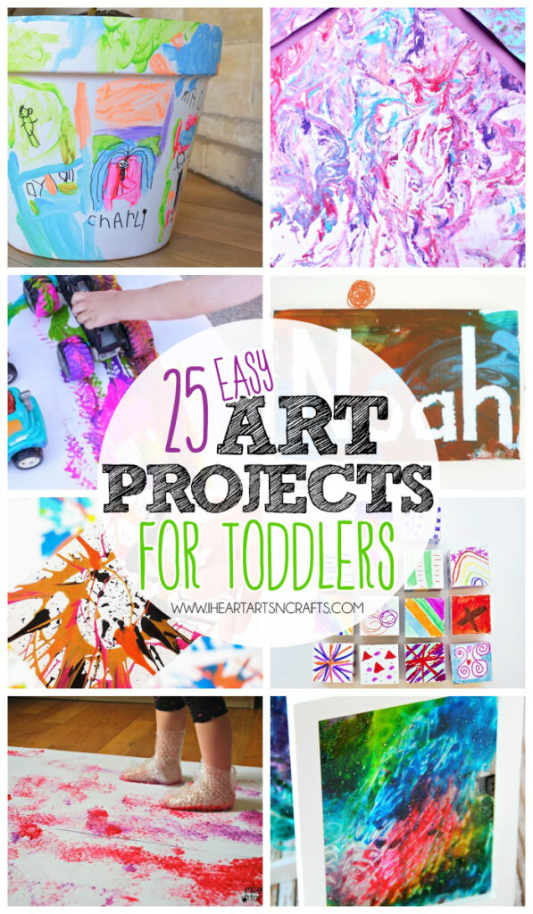 25 easy art projects for toddlers i heart arts n crafts for Art n craft for toddlers