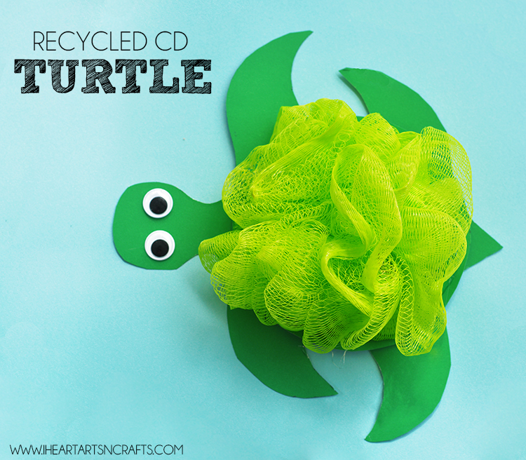 Recycled CD Turtle Kids Craft