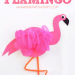Recycled CD Flamingo Kids Craft