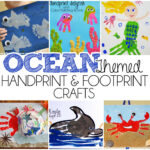 Ocean Themed Handprint and Footprint Crafts