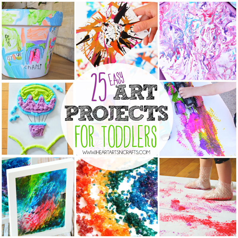 Easy Arts And Crafts Ideas For Kids Part - 33: 25 Easy Art Projects For Toddlers