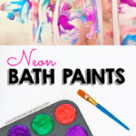 2 Ingredient Neon Bath Paint Recipe