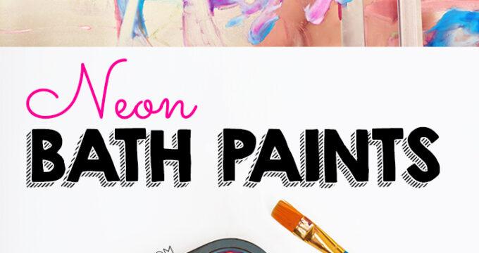 2 Ingredient Neon Bath Paint Recipe