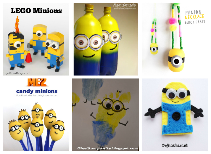Amazing Minion Crafts Part - 7: Despicable Me Minions Kids Crafts And Recipes