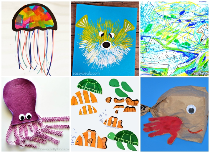 27 ocean crafts for kids i heart arts n crafts for Children arts and craft