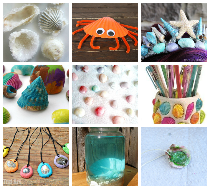 25 seashell crafts activities for kids i heart arts n