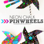 DIY Neon Chalk Pinwheels
