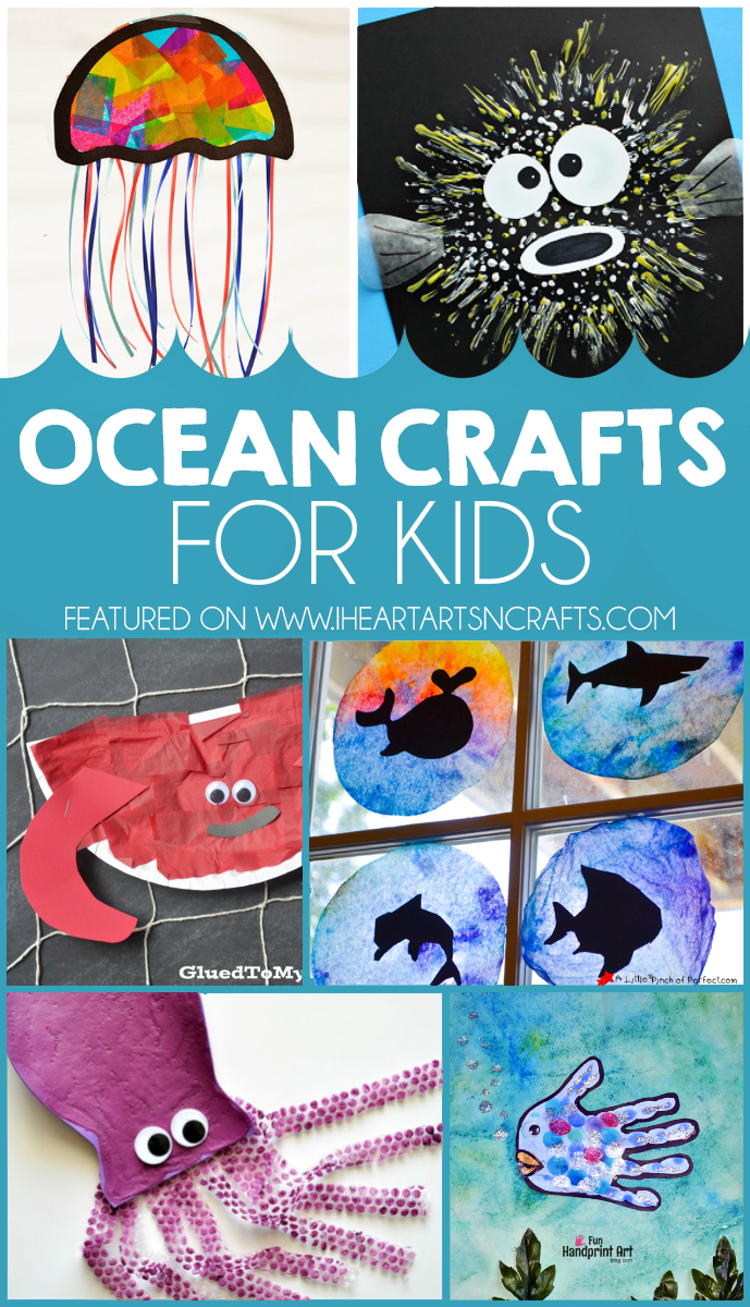 ocean themed handprint and footprint crafts i heart arts n crafts