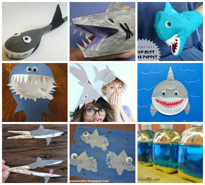 Kids Shark Crafts, Activities, and Recipes