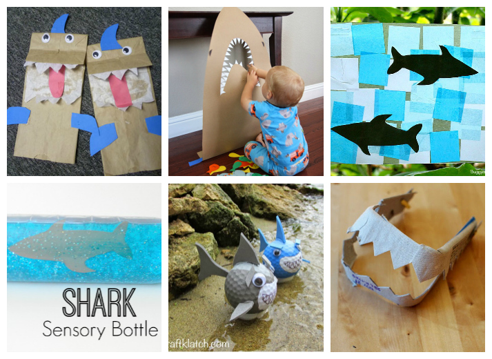 Kids and Toddlers Shark Week Crafts, Activites, and Recipes
