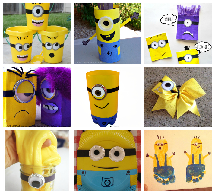 Lovely Minion Crafts Part - 11: Minions Crafts And Recipes For Kids
