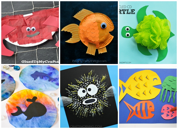 27 ocean crafts for kids i heart arts n crafts for Animals art and craft for preschoolers