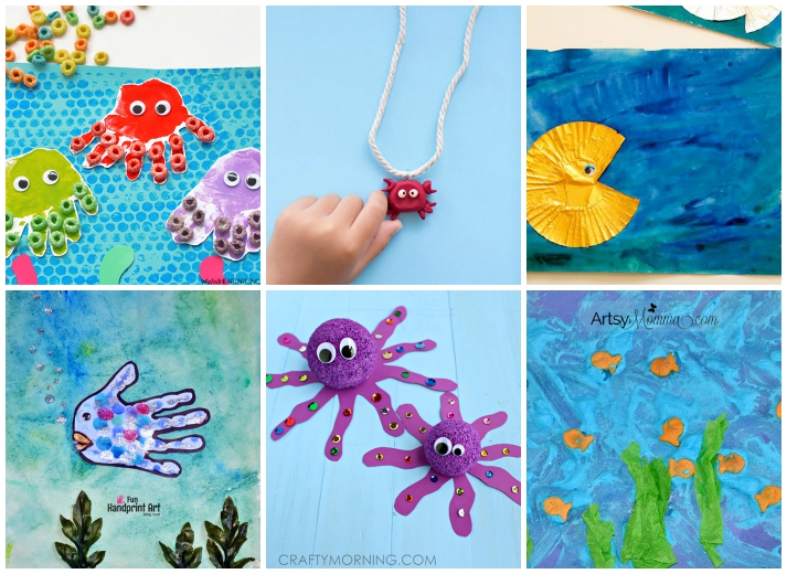 Ocean Animal Kids Crafts