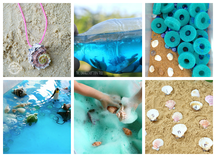 Seashell Kids Crafts and Activities