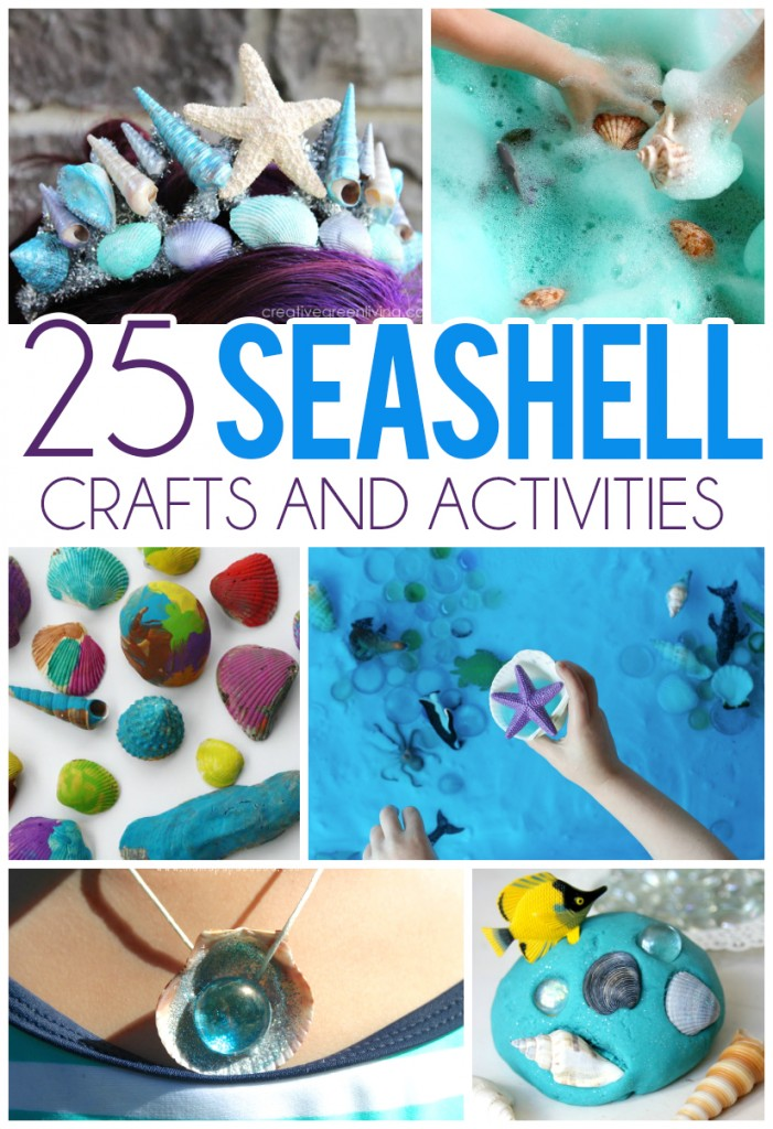 25 seashell crafts activities for kids i heart arts n for Art n craft for children