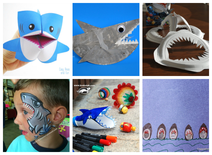 Shark Crafts, Activities, and Recipes for Kids