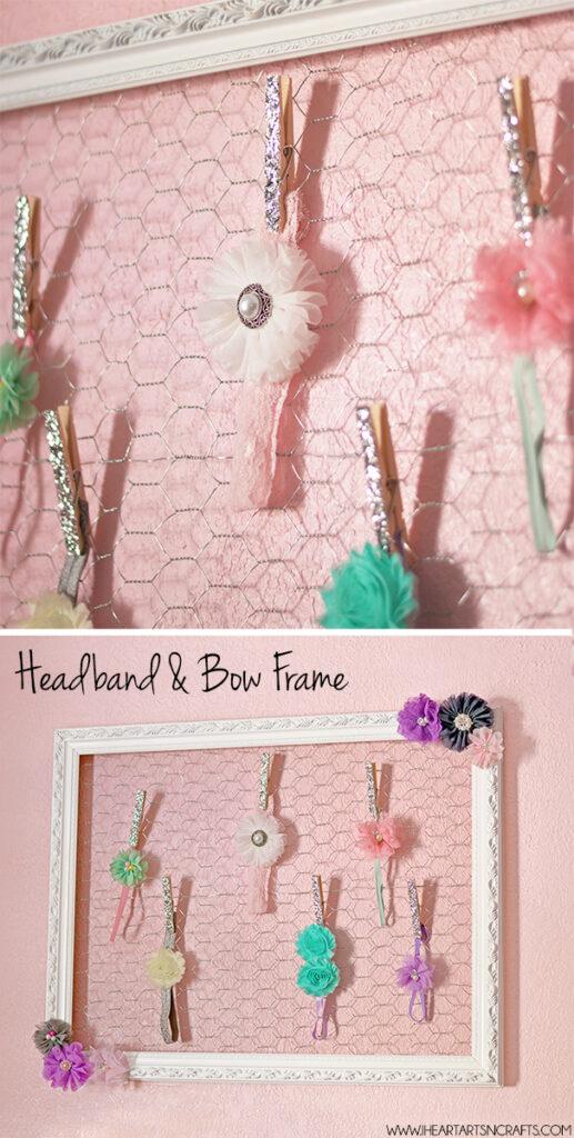 Picture Frame Hair Clip Holder