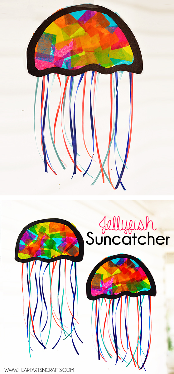 Suncatcher jellyfish kids craft i heart arts n crafts for Art n craft for toddlers
