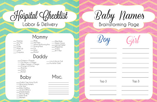 diaper bag checklist pdf  Pregnancy Resources: Diaper Bag Checklist, Hospital Checklist ...