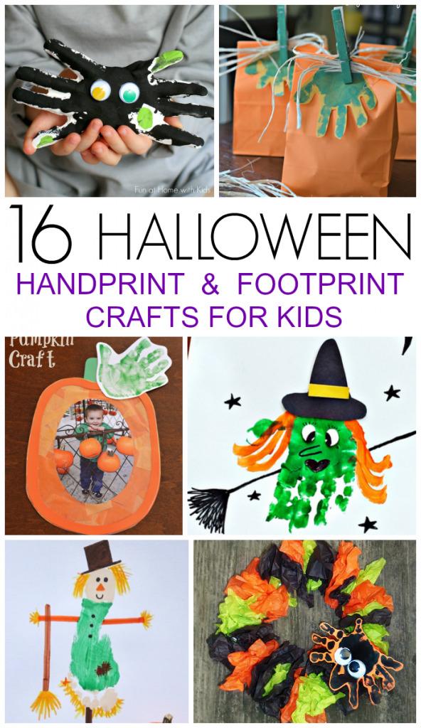 16 Halloween Handprint and Footprint Crafts
