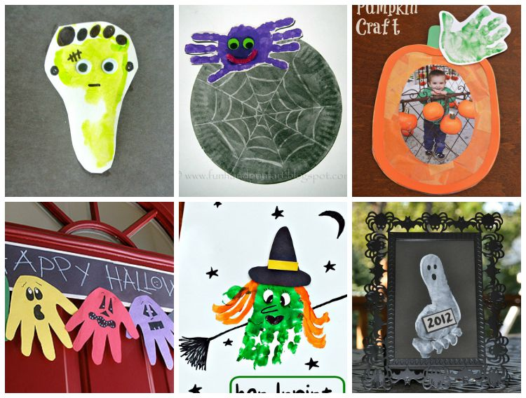 16 Halloween Handprint and Footprint Crafts