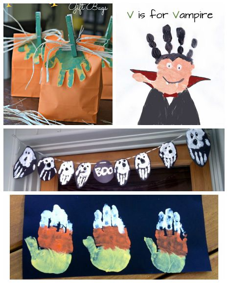 halloween handprint and footprint art 16 handprint and footprint crafts i arts 6671