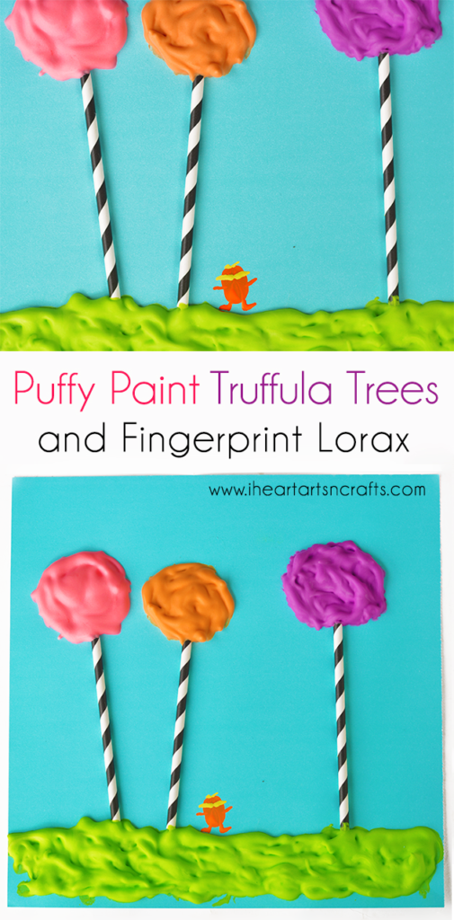 Puffy Paint Dr. Seuss Craft with Fingerprint Lorax