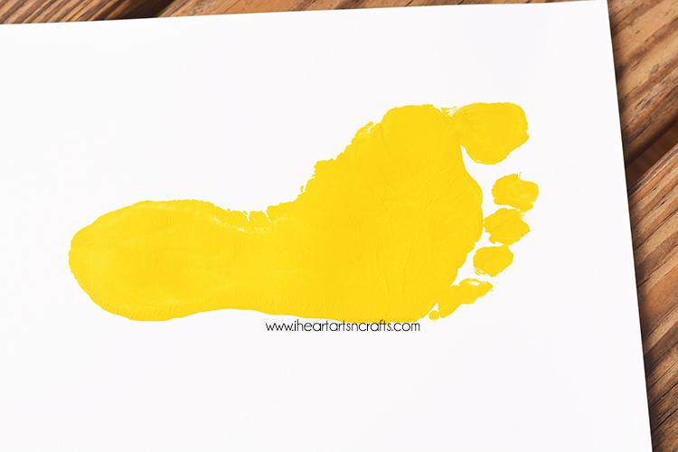 Handprint Apple and Footprint Bus Back To School Keepsakes