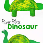 Paper Plate Dinosaur Kids Craft