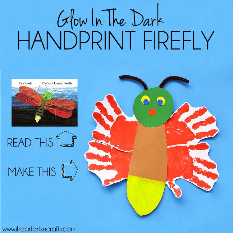 Eric Carle Inspired Glow In The Dark Handprint Firefly